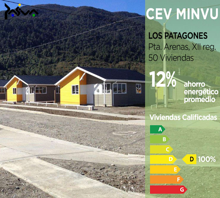 Calificación Energética Viviendas, condominio Los Patagones: Casas ecológicas de estilo  por Pasiva