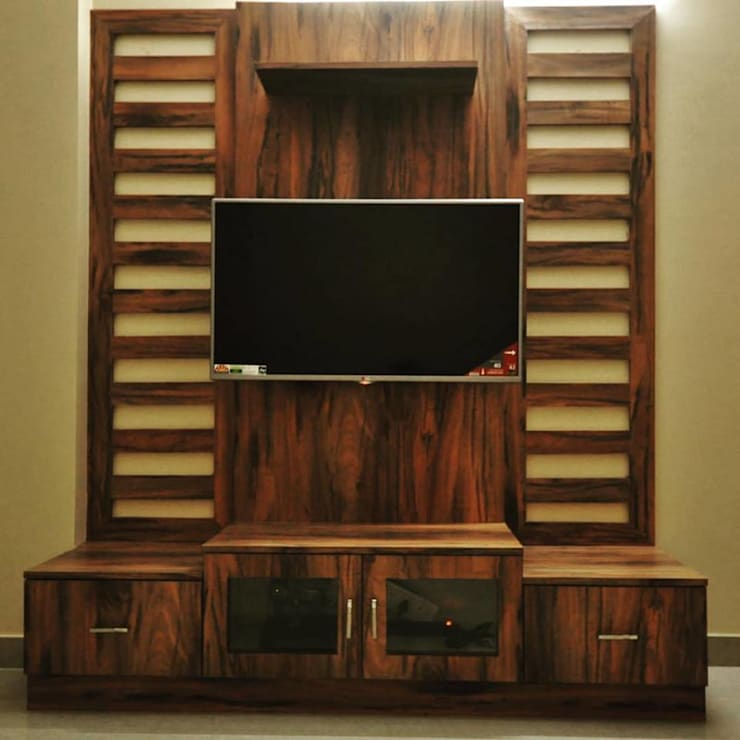 TV Cabinet Ideas: modern Living room by Kriyartive Interior Design