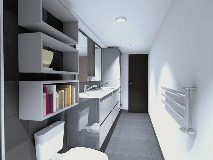 BAÑO GERENCIA: Baños de estilo  por Plano 13, Minimalista