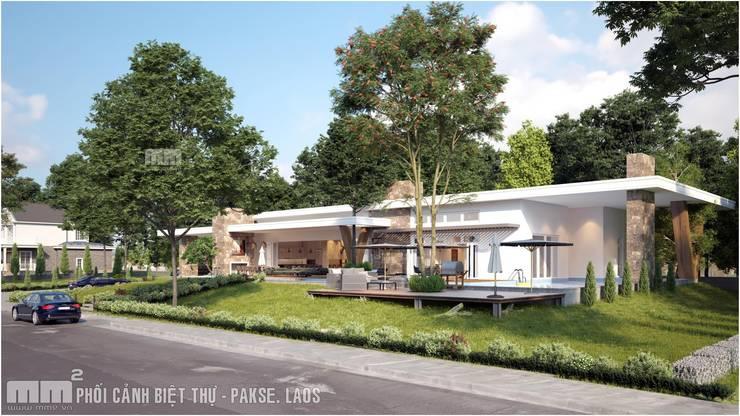 Thiết kế thi công biệt thự Pakse – Lào:   by Công ty Cổ Phần Milimet Vuông