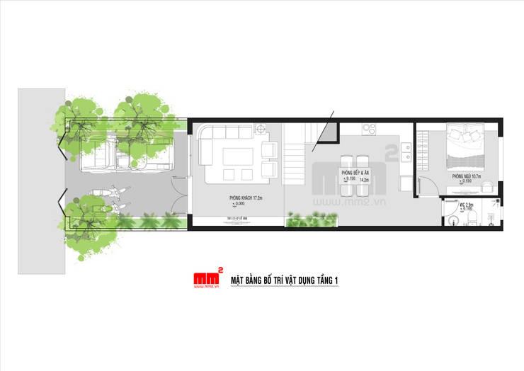 Thiết kế thi công nhà phố Đà Nẵng:   by Công ty Cổ Phần Milimet Vuông