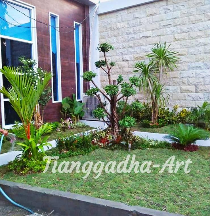 Taman Depan Minimalis:  Halaman depan by Tukang Taman Surabaya - Tianggadha-art