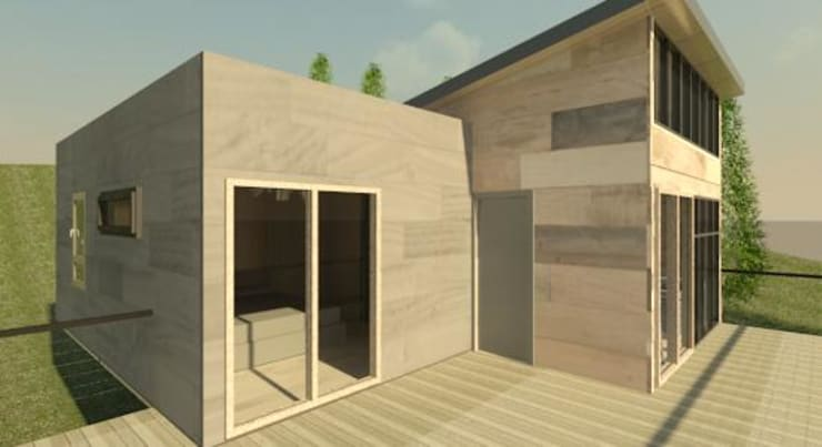 Casa Madera Minimalista 50m2:  de estilo  por Incove - Casas de madera minimalistas