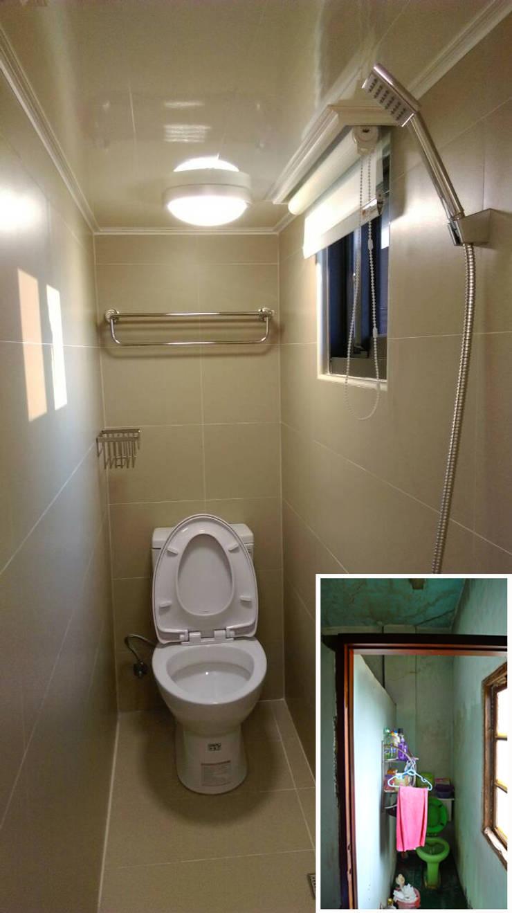 浴室/衛浴/老屋翻新:  浴室 by 木博士團隊/動念室內設計制作