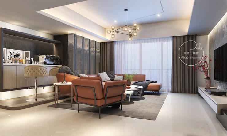 客廳/烤漆玻璃/奢華風:  客廳 by 木博士團隊/動念室內設計制作