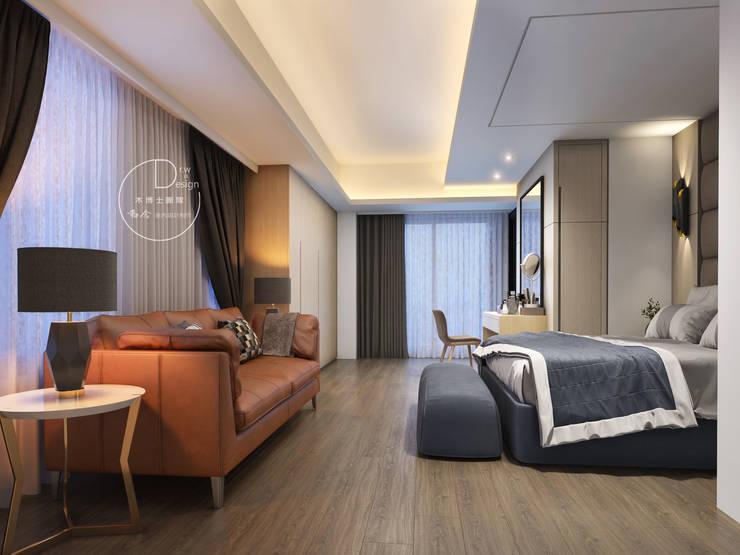 主臥/臥室/歐式系統傢俱/奢華風:  臥室 by 木博士團隊/動念室內設計制作