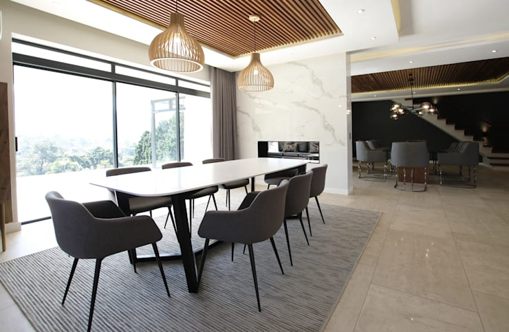 Dining Room:  Dining room by JSD Interiors, Minimalist Wood Wood effect