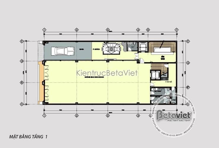 Phối cảnh mẫu biệt thự Tân cổ điển kết hợp kinh doanh và nhà ở (CĐT: Bà Thanh - Thanh Hóa) KT18063:   by Công Ty CP Kiến Trúc và Xây Dựng Betaviet