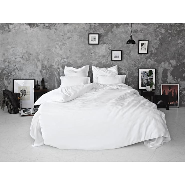 Sateen Duvet Set - White:  Bedroom by Bedroommood