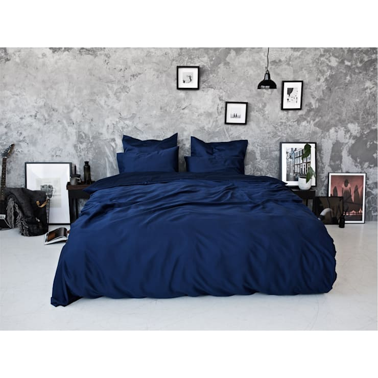 Sateen Duvet Set - Navy:  Bedroom by Bedroommood