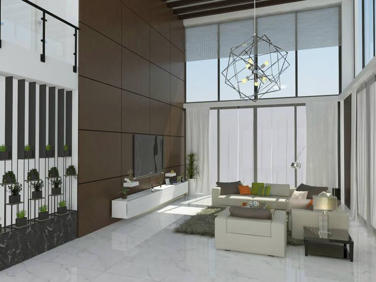 modern Living room by URBAIN DEZIN STUDIO
