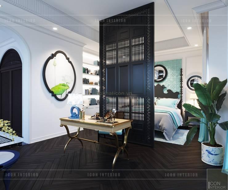 Thiết kế biệt thự theo phong cách Đông Dương – Vẻ đẹp giá trị thời gian:  Phòng ngủ by ICON INTERIOR