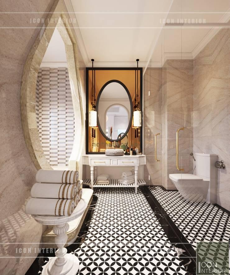 Thiết kế biệt thự theo phong cách Đông Dương – Vẻ đẹp giá trị thời gian:  Phòng tắm by ICON INTERIOR