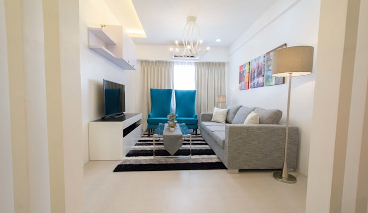 One Orchard Road: modern Living room by TG Designing Corner
