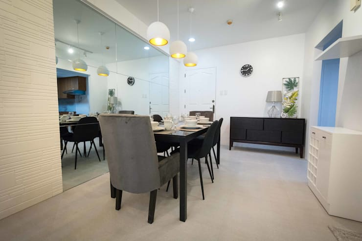 One Orchard Road: modern Dining room by TG Designing Corner