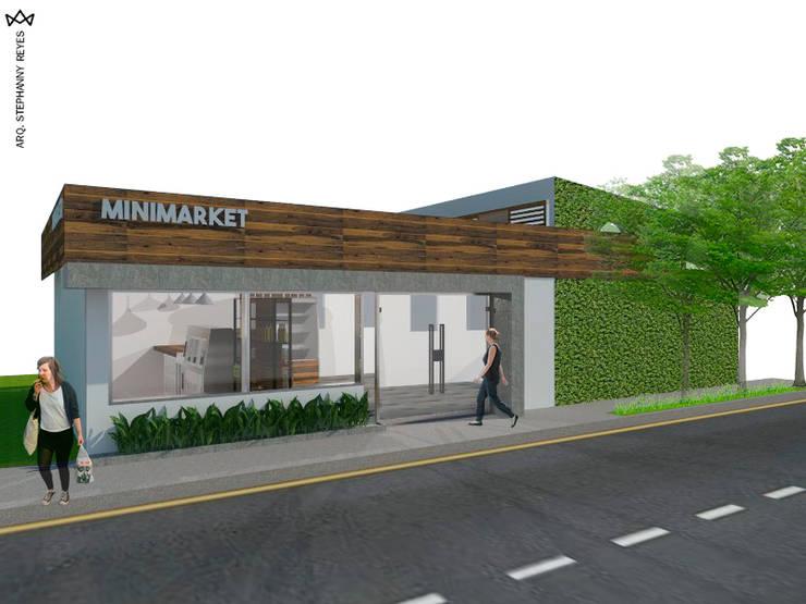 MINIMARKET LOS NARANJOS: Tiendas y espacios comerciales de estilo  por Arq Stephanny Reyes