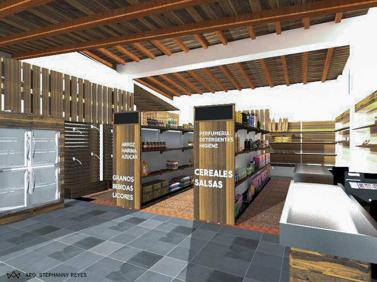 ANAQUELES: Tiendas y espacios comerciales de estilo  por Arq Stephanny Reyes