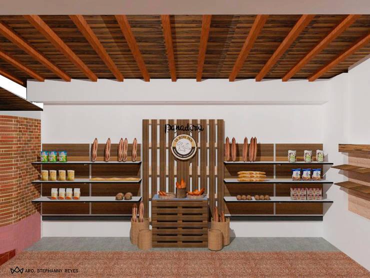 PANADERÍA: Tiendas y espacios comerciales de estilo  por Arq Stephanny Reyes
