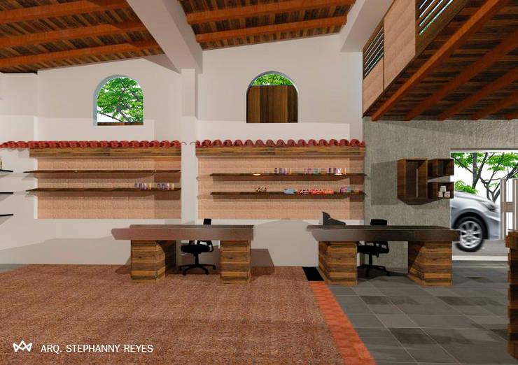 CAJAS: Tiendas y espacios comerciales de estilo  por Arq Stephanny Reyes