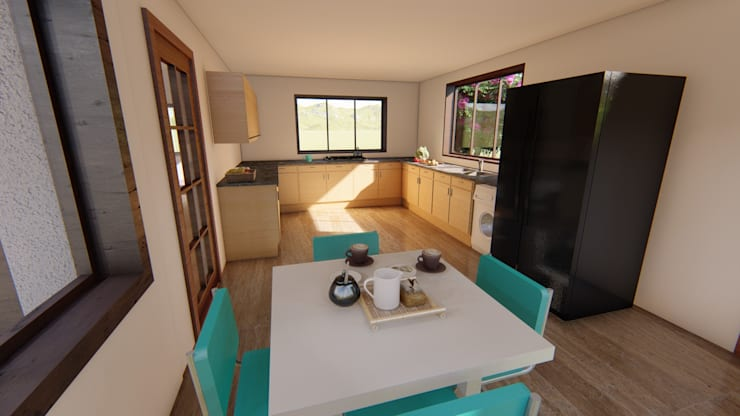 Cocinas de estilo  por Ekeko arquitectura  - Coquimbo
