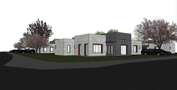 Fachada casa 1 piso: Condominios de estilo  por R-Innovare