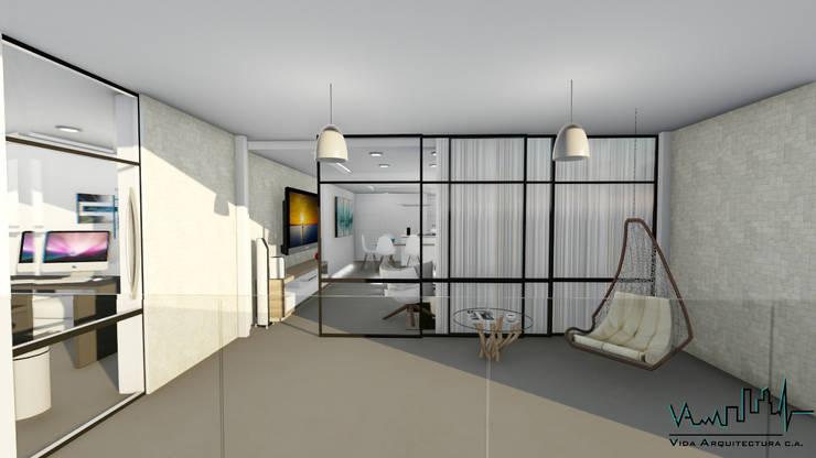 Remodelacion y diseño interior para apartamento: Techos planos de estilo  por Vida Arquitectura