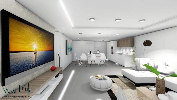 Remodelacion y diseño interior para apartamento: Cocina de estilo  por Vida Arquitectura