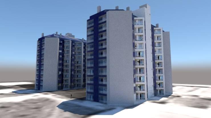 ARQUITECTO: Condominios de estilo  por Hector Arquitecto