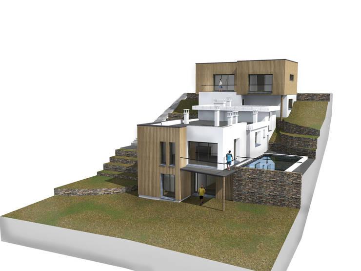 Maison moderne à Carnoux von MEDAH ARCHITECTURE ET ECO LOGIS ...