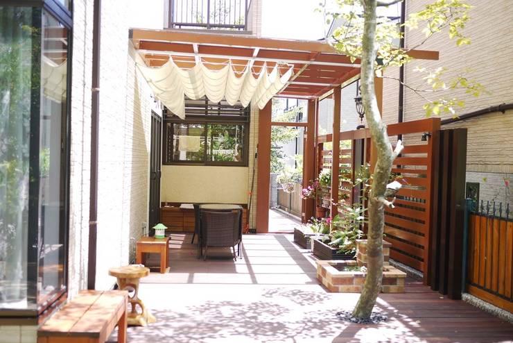 庭園遮陽棚:  庭院遮陽棚 by 大地工房景觀公司
