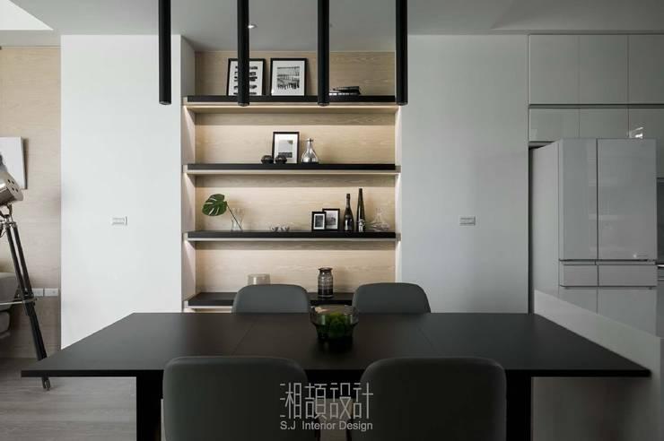 開放式餐廚區:  餐廳 by 湘頡設計