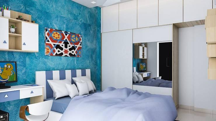 Bedroom Colour schemes:  Bedroom by Modulart