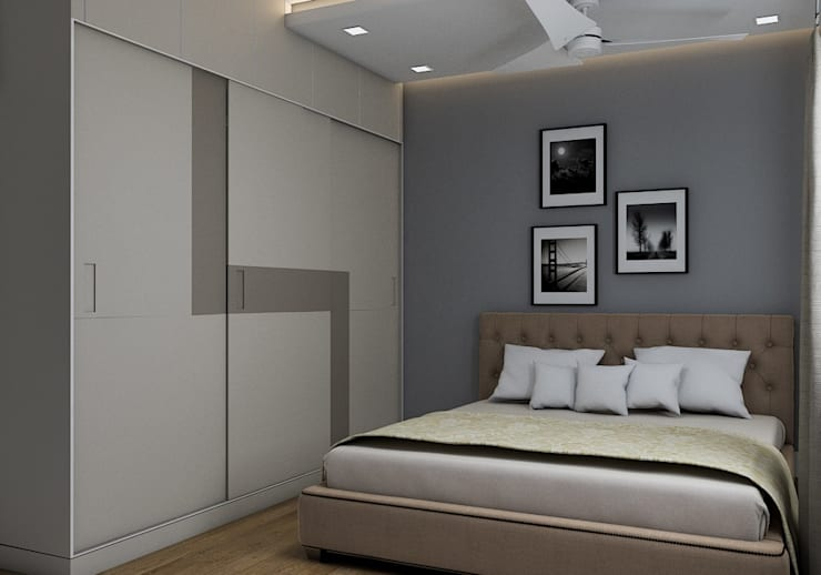 Bedroom Design and Colour schemes:  Bedroom by Modulart