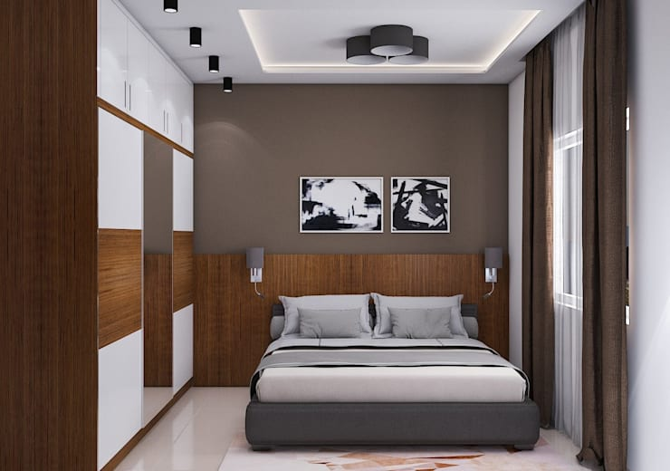 Bedroom Design and Colour schemes: modern Bedroom by Modulart