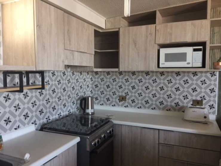 Remodelación de cocina: Cocina de estilo  por R-Innovare / Diseño de interiores y Arquitectura / Santiago y Viña del mar