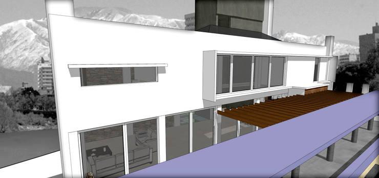 LOFT EMPRESARIAL: Estudios y oficinas de estilo  por MVQ ARQUITECTOS