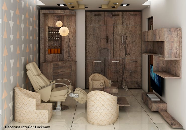 Bar room Designing and execution                                                                                                                     : rustic  by decoruss Interior designer and decorator,Rustic Plywood