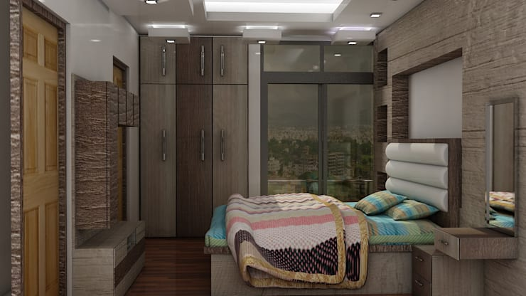 Master bedroom: classic  by decoruss Interior designer and decorator,Classic Plywood