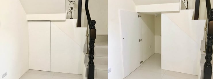 Stairs by 圓方空間設計, Minimalist Plywood