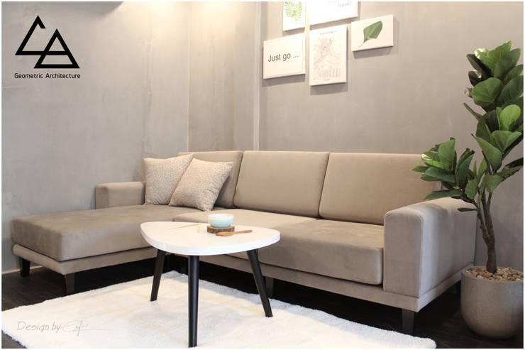 Livingroom:  Phòng khách by G.A Studio