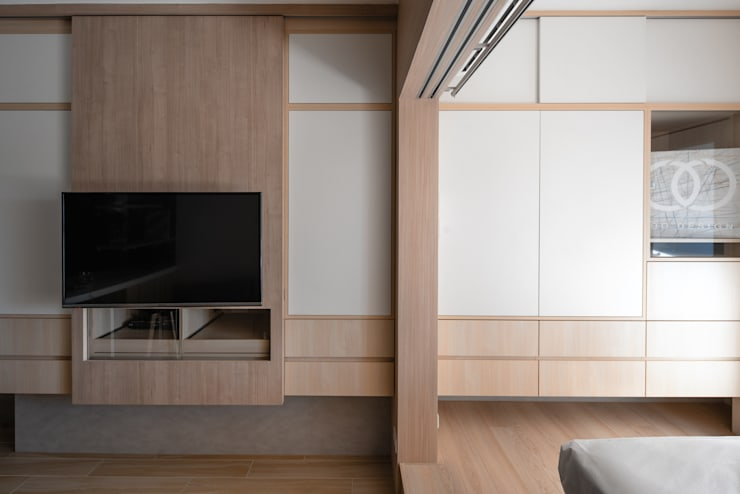 輕透關係:  臥室 by 有偶設計 YOO Design