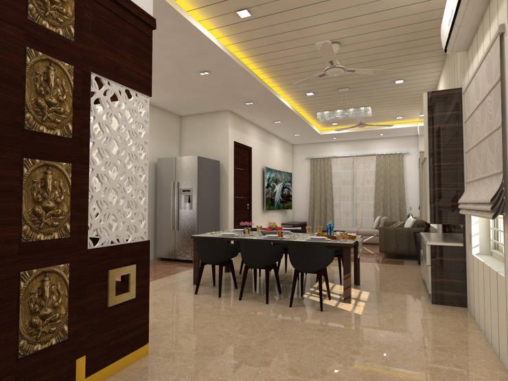 project vijayawada:  Dining room by shree lalitha consultants