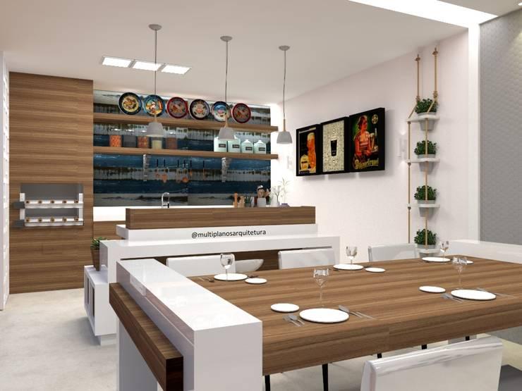 Área Gourmet: Cozinhas  por Multiplanos Arquitetura