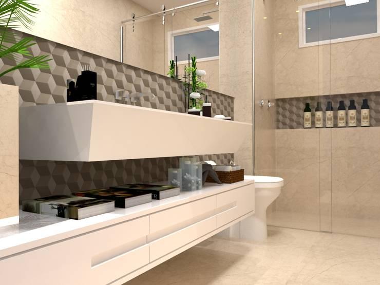 現代浴室設計點子、靈感&圖片 根據 Multiplanos Arquitetura 現代風