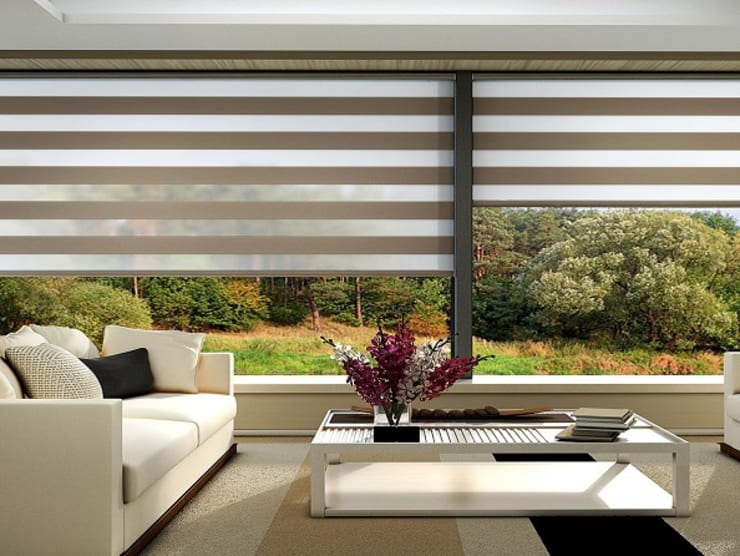 Armoni Perde Tasarım – Perde Modasında Zebra Perdelerin Yeri: tarz Pencere & Kapılar