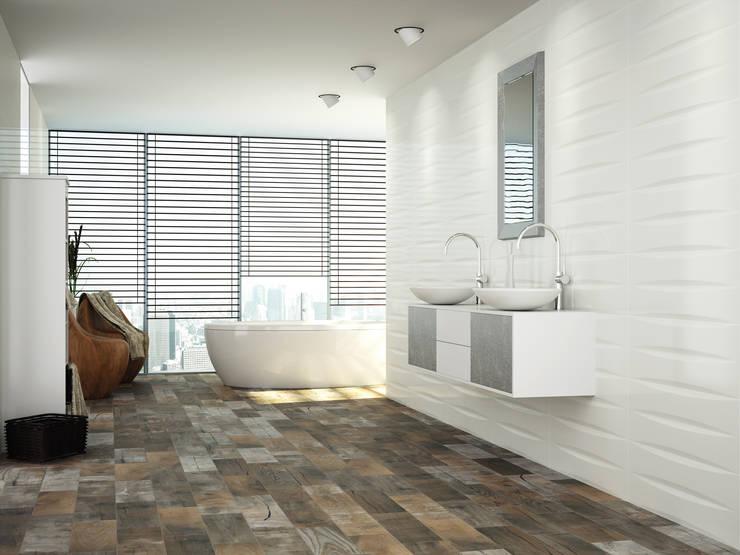 Cerámica Blanca: Paredes y pisos de estilo  por Kavana Revestimientos