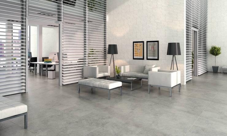 Porcelanato tipo ladrillo: Paredes y pisos de estilo  por Kavana Revestimientos