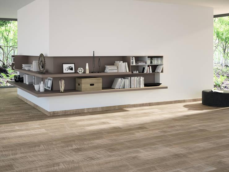 Porcelanato tipo madera: Paredes y pisos de estilo moderno por Kavana Revestimientos