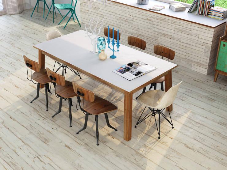 Cerámica tipo madera: Paredes y pisos de estilo moderno por Kavana Revestimientos