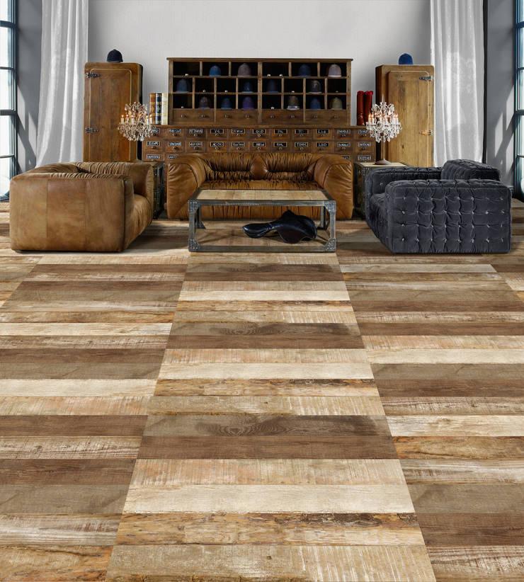 Porcelanato tipo madera: Paredes y pisos de estilo  por Kavana Revestimientos